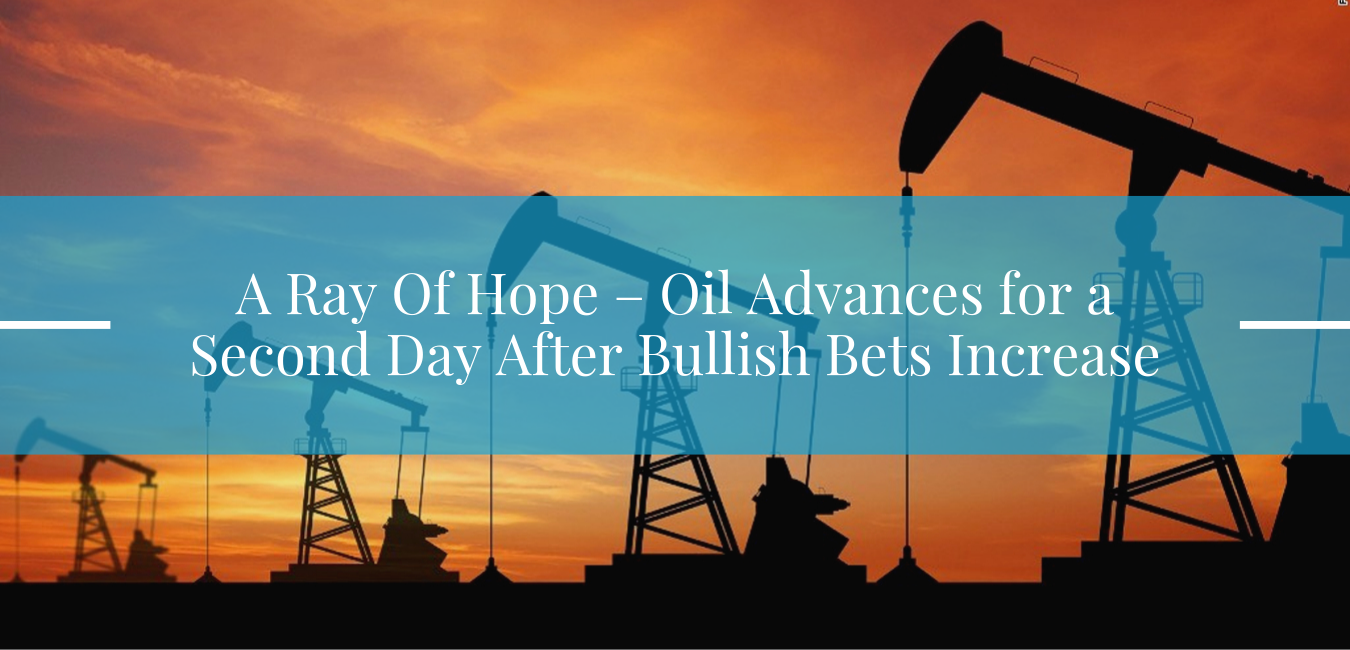 A Ray Of Hope – Oil Advances for a Second Day After Bullish Bets Increase