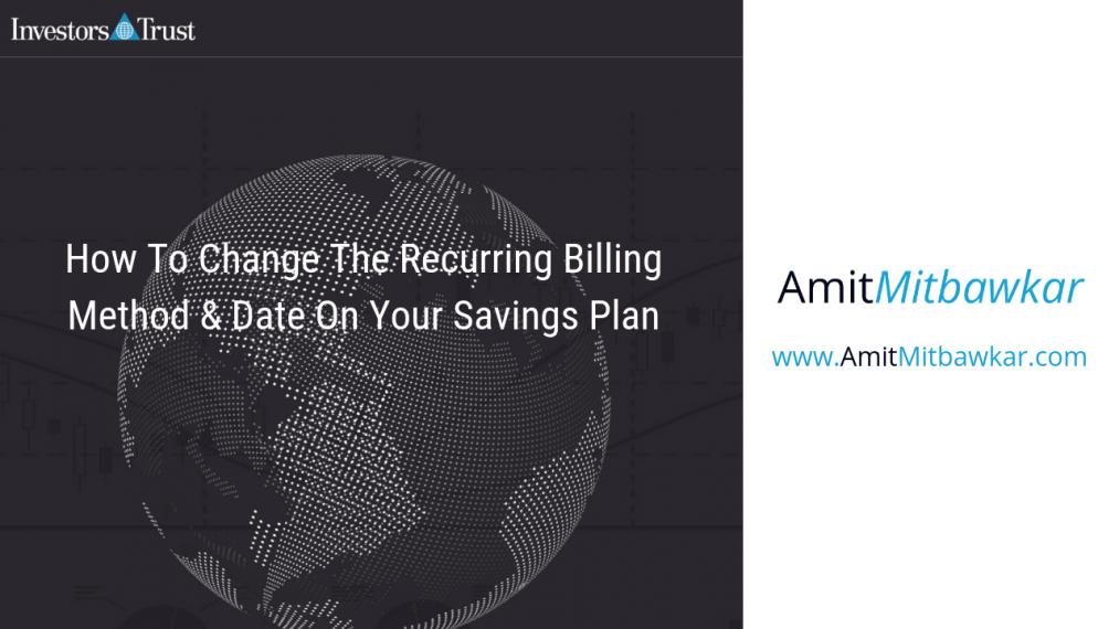 Change recurring billing on your savings plan