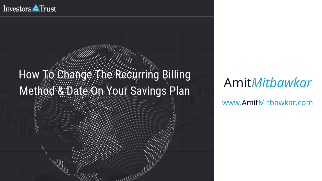 Change recurring billing on your savings plan