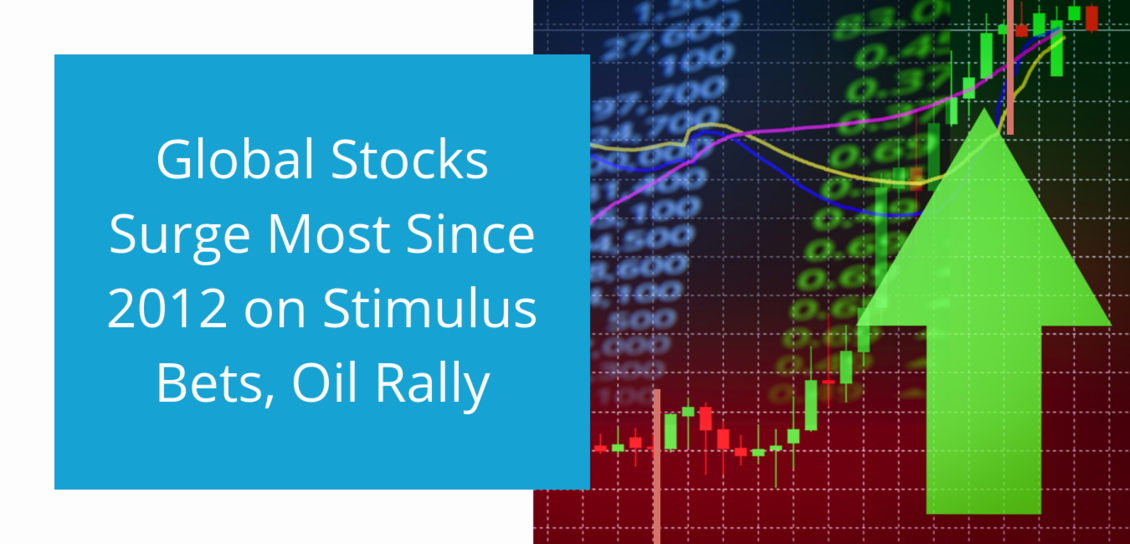 Global Stocks Surge Most Since 2012 on Stimulus Bets, Oil Rally