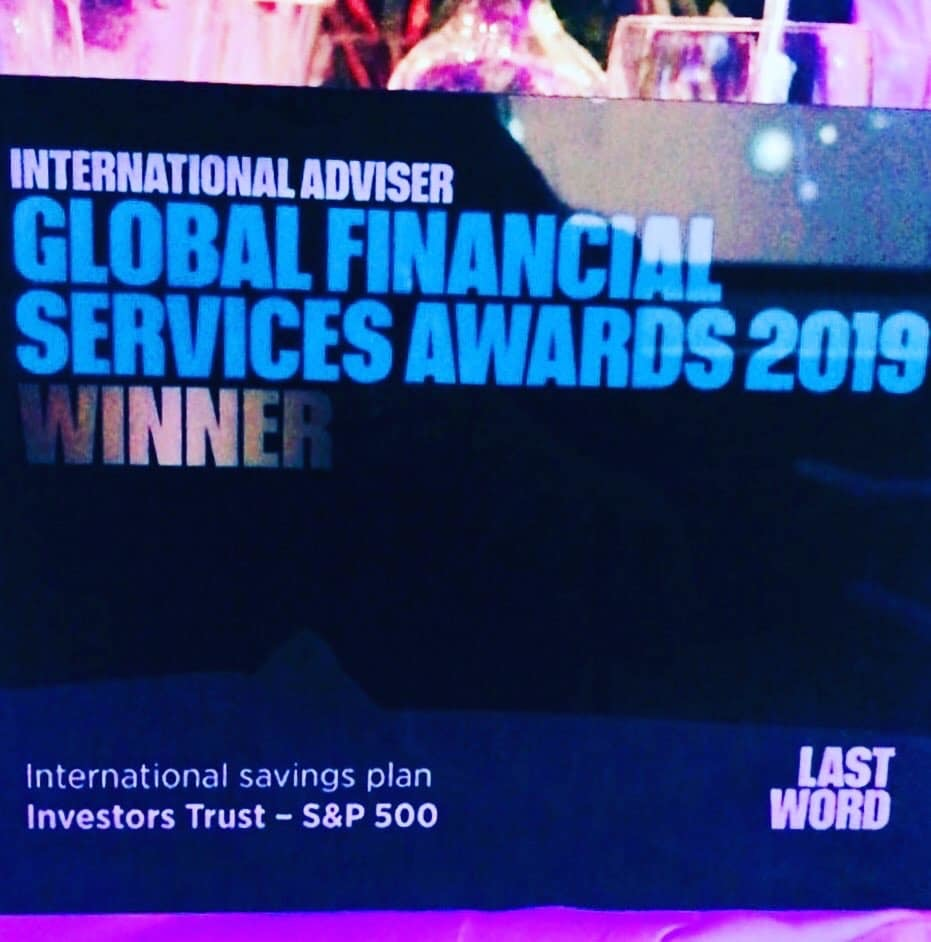 Investors Trust Wins Best Savings Plan Award For 2019